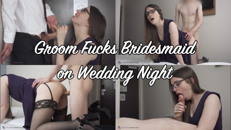 Cheating Groom Fucks Bridesmaid on Wedding Night