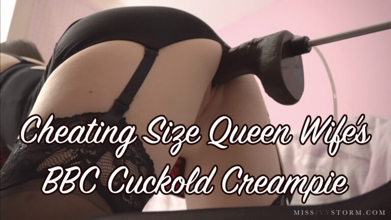 Cheating Size Queen Wife's BBC Cuckold Creampie